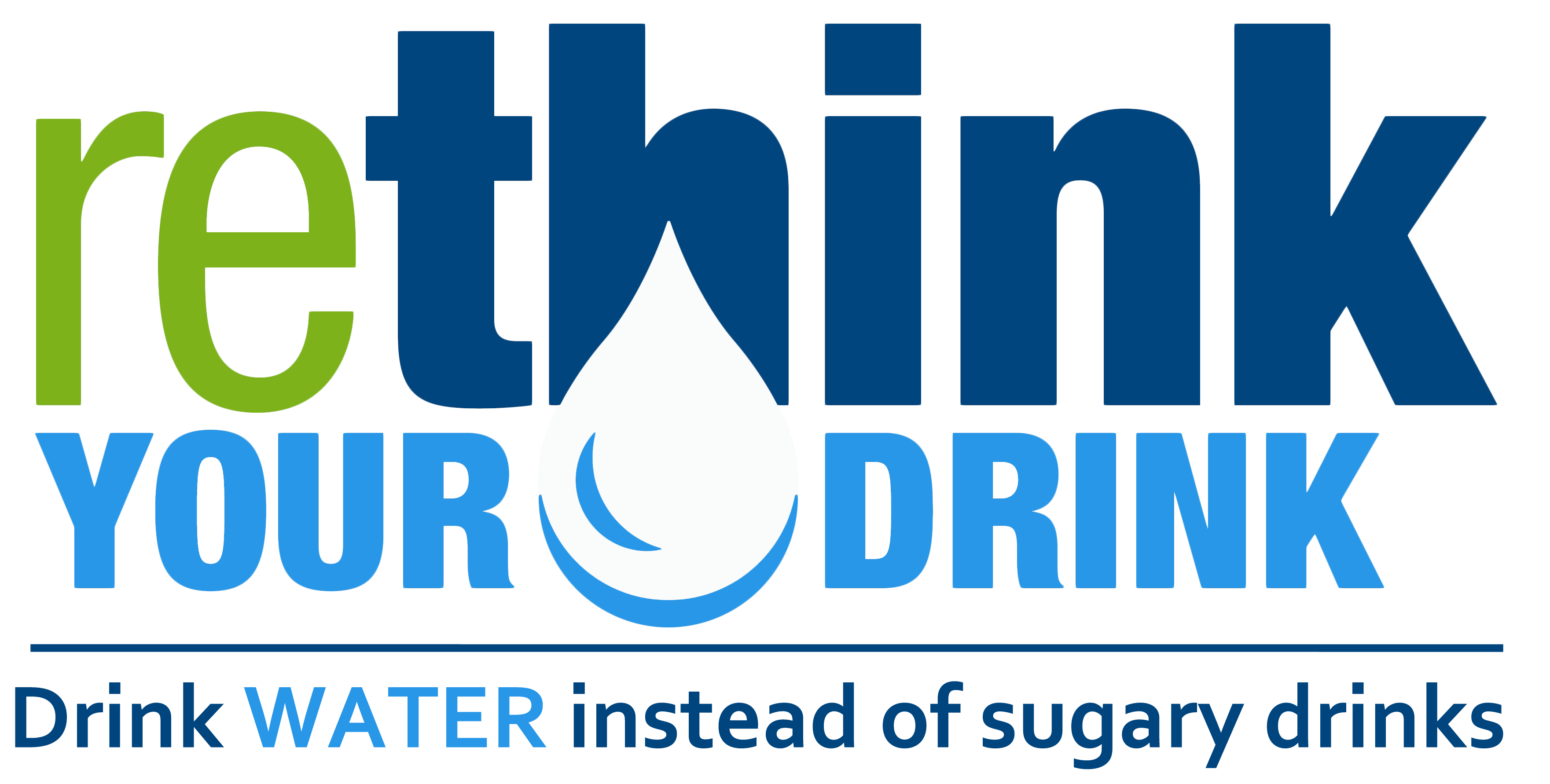 rethink your drink new logo text only white drop